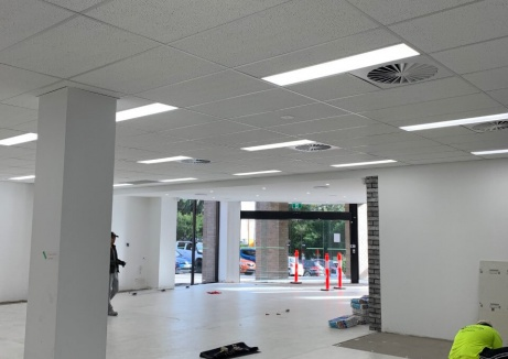 Office Space Under Construction - Plasterboard Repair - TM Linings