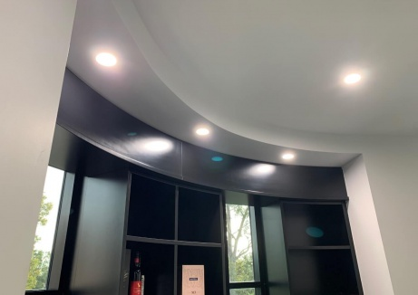 Office Kitchen Ceiling - Palsterboard Repairs - TM Linings