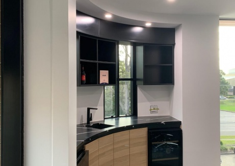 Kitchen Interior With Sink - Plasterboard Repairs - TM Linings
